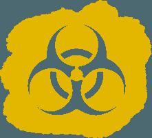 biohazard disinfectant symbol