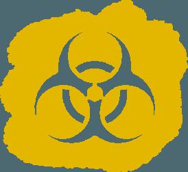 biohazard disinfecting symbol