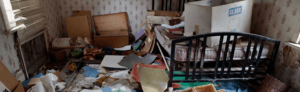 example of messy hoarder's room